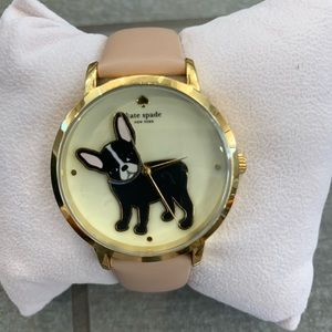 NWT Kate Spade French Bulldog watch